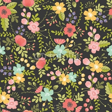 seamless pattern with floral ornament 98694240