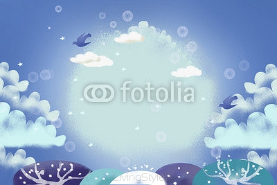 Illustration: Ice Winter. Realistic Fantastic Cartoon Style Artwork / Story / Scene / Wallpaper / Background / Card Design.