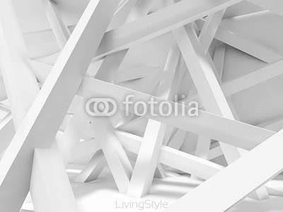 Chaotically oriented beams in empty room. 3d 122008640