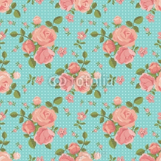 Vector seamless pattern of blooming roses 78638668