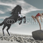 Horse and woman 122877816