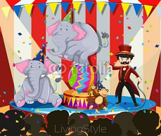 Animal show at the circus 96591616