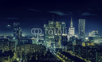Warsaw downtown at night 98599421