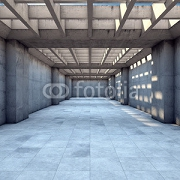Long tunnel of concrete 97581040