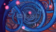 Abstract spiral wire background with technology or sci fi concep 118284240