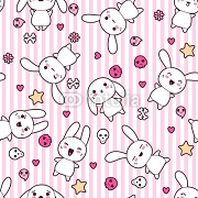 Seamless pattern with doodle. Vector kawaii illustration. 44751702