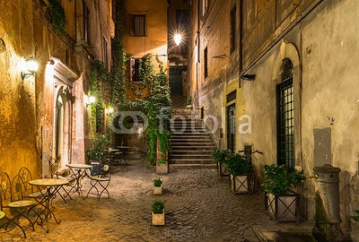 Old courtyard in Rome, Italy 105974697