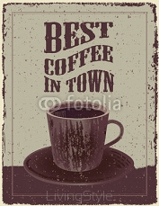 Retro Vintage Coffee Poster 87632282