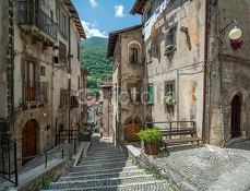 Scanno, old rural village in L'Aquila Province, Abruzzo (Italy) 121494010