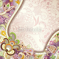 abstrakcja Purpurowy Floral Background 60142273