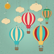 Retro hot air balloon 120723426