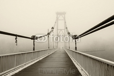The bridge in the fog, black and white 101235752