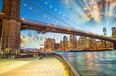 Brooklyn Bridge Park, New York. Stunning Manhattan skyline light 65396565