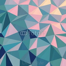 Triangular Low Poly Pink-Green Background 107132974