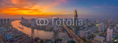 Sky burst at Chao Phraya river curve 75459775