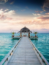 Sunset / Sunrise Jetty at Maldives / Malediven 40560758