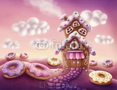 Fantasy colorful houses 127916571