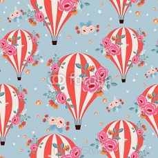 Retro stylised air ballons 102436314