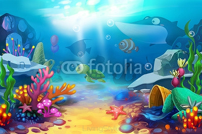 Illustration: The Happy Ocean World - Scene Design 94632984