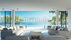 Beach living on Sea view / 3d rendering 121387040