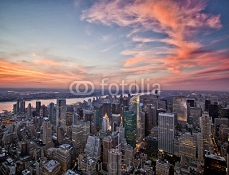 New York sunset 90722569