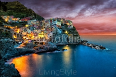 Beautiful coastal village Manarola, Liguria, Italy. 128492733