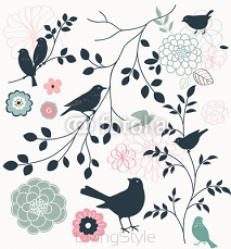 Bird and flower 59958615