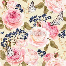 Seamless vintage flowers 115029202