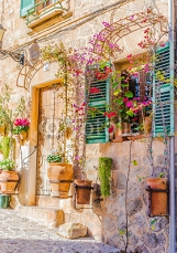 Romantic view of a old mediterranean village house 100554938