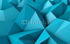 abstrakcja Blue Low Poly 3D tło 64544596