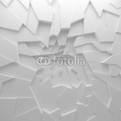 Geometric color abstract polygons wallpaper, as crack wall 95928122