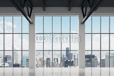 Contemporary office space with New York view. A concept of financial success. 84985484