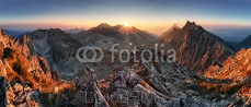 Sunset panorama mountain nature autumn landscape, Slovakia 91745436