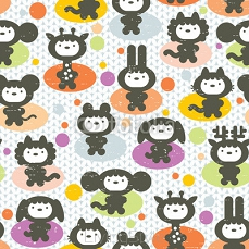 Cute animals seamless pattern. 92198868