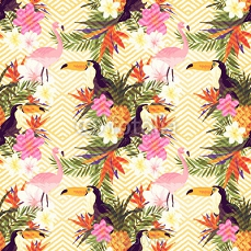 Tropical Geometric Floral 108079026