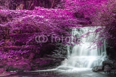 Beautiful alternate colored surreal waterfall landscape 101321659