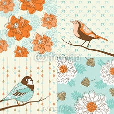flower & bird background