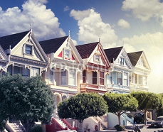 painted ladies at alamo square 72101676