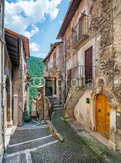 Scanno, old rural village in L'Aquila Province, Abruzzo (Italy) 121494214