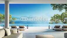 Beach living on Sea view / 3d rendering 109852432