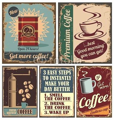 Vintage Kawy I Plakaty Metalowe Tabliczki 48325839