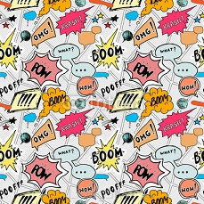 Seamless pattern background with handdrawn comic book speech bubbles, vector illustration 110188565