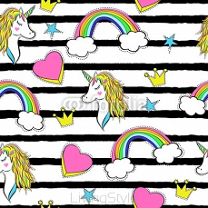 Seamless pattern with trendy cartoon patches in 90s style. 127822184