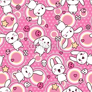 Seamless pattern with doodle. Vector kawaii illustration. 44751688