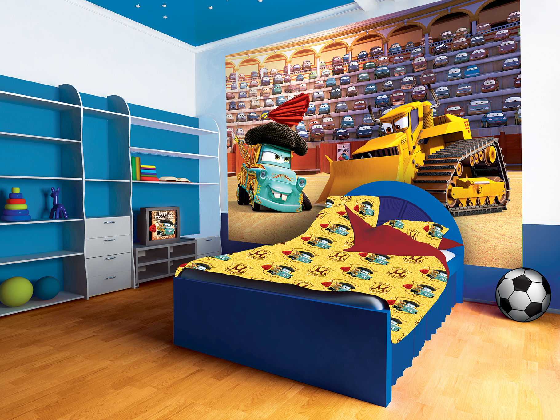 fototapeta dla dzieci disney autka 23 livingstyle fototapety na cian obrazy naklejki. Black Bedroom Furniture Sets. Home Design Ideas