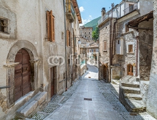 Scanno, old rural village in L'Aquila Province, Abruzzo (Italy) 121494190