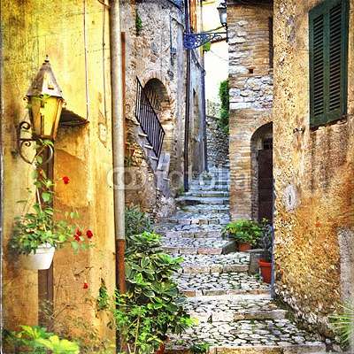 charming old streets of mediterranean 71817995