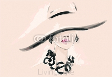 Beautiful woman. fashion illustration 106010644