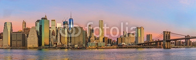 View to Manhattan from Brooklyn Bridge Park  126660221