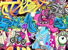 Graffiti Urban Art Vector Background 38479152